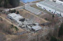 Areál Poličských strojíren po výbuchu z 23. února