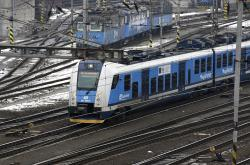 Osobní vlak Regio Panter odjíždí z Ostravy Hlavního nádraží
