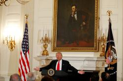 Donald Trump při projevu k asociaci guvernérů