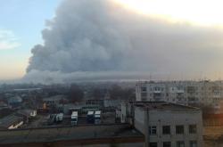 Exploze muničního skladu na východě Ukrajiny