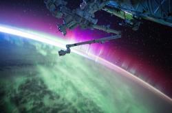 Polární záře z oběžné dráhy