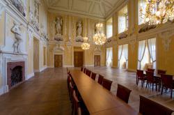 Zrestaurovaný Rytířský sál Červeného hrádku v Jirkově