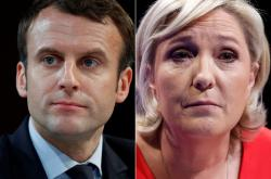 Emmanuel Macron a Marine Le Penová