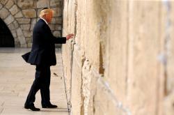 Donald Trump u jeruzalémské Zdi nářků