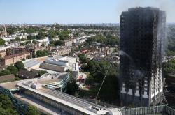 Požár obytné budovy v Londýně