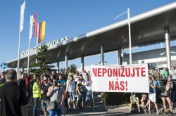 Začátek stávky ve slovenském Volkswagenu