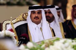 Katarský emír šajch Tamim bin Hamad bin Chalífa Sání