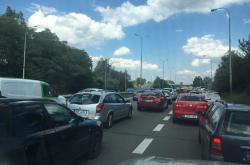 Kolona na D1 u Brna