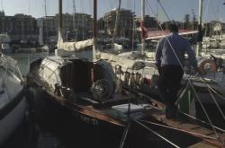 Dřevěná plachetnice v Anziu