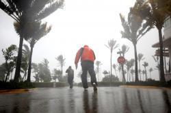 Hurikán Irma v South Beach na Floridě