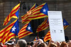Demonstrace za katalánské referendum