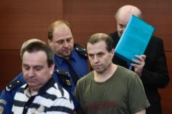 Obžalovaní Jiří Brož (vlevo), Luca Luburic (uprostřed) a Petr Jendrísek (vpravo)