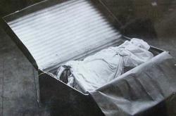 Jeden z kufrů z částmi těla Otýlie Vranské