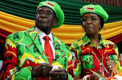 Robert Mugabe se svou ženou Grace
