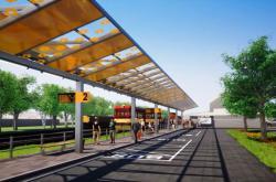 Vizualizace nového autobusového terminálu