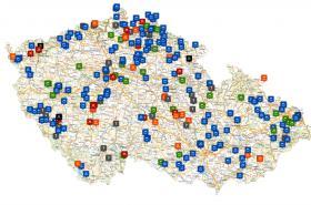 Mapa koupání v ČR