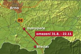 Uzavírka dálnice D2