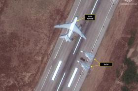 Satelitní snímky ruských letounů v Sýrii
