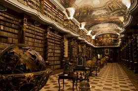 Barokní knihovna v Klementinu