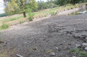Vypuštěný rybník v Kublově