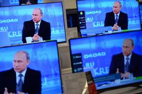 Vladimir Putin v TV