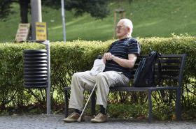 Důchodce v Třinci