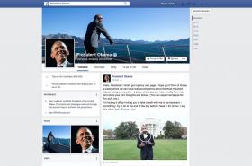 Facebook Baracka Obamy