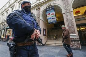 Policejní hlídky v Belgii