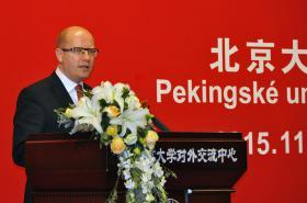 Bohuslav Sobotka promluvil na Pekingské univerzitě
