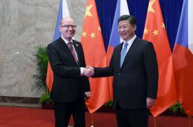 Bohuslav Sobotka a Si Ťin-pching