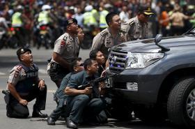 Zásah proti teroristům v Jakartě