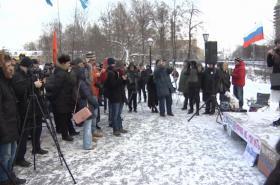 Demonstrace odpůrců Putina