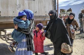 Syřané prchají z Aleppa