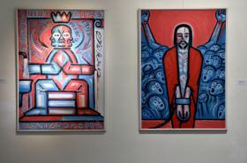 Z výstavy Věry Novákové Pod hradbami