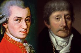 Wolfgang Amadeus Mozart a Antonio Salieri