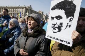 Demonstrace na podporu Nadji Savčenkové