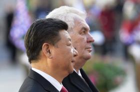 Si Ťin-pching a Miloš Zeman