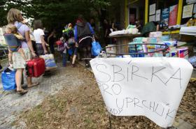 Sbírka pro uprchlíky na Klinice