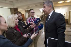 Ministr financí Andrej Babiš (ANO) před jednáním s AHG