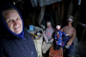Jedna z bábušek z Černobylu