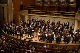 Česká filharmonie při Zkoušce orchestru