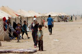 Uprchlický tábor jižně od Fallúdže