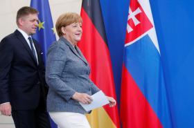 Robert Fico a Angela Merkelová