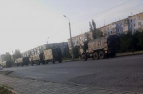 Ruský konvoj na Krymu