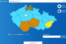 Krajské volby - volební mapa