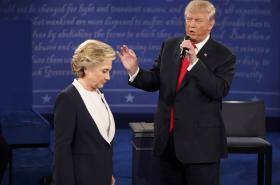 Druhá debata Trumpa s Clintonovou