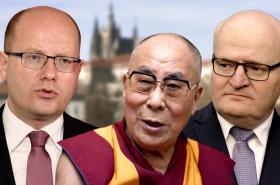 Bohuslav Sobotka, Dalajláma a Daniel Herman