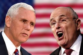 Mike Pence a Rudy Guiliani