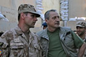 Ministr obrany Martin Stropnický navštívil vojáky v Iráku
