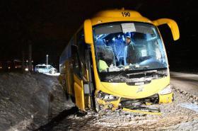 Noční dopravní nehoda u Žalmanová na Karlovarsku